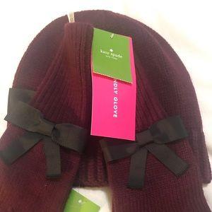 Kate Soade hat &gloves set